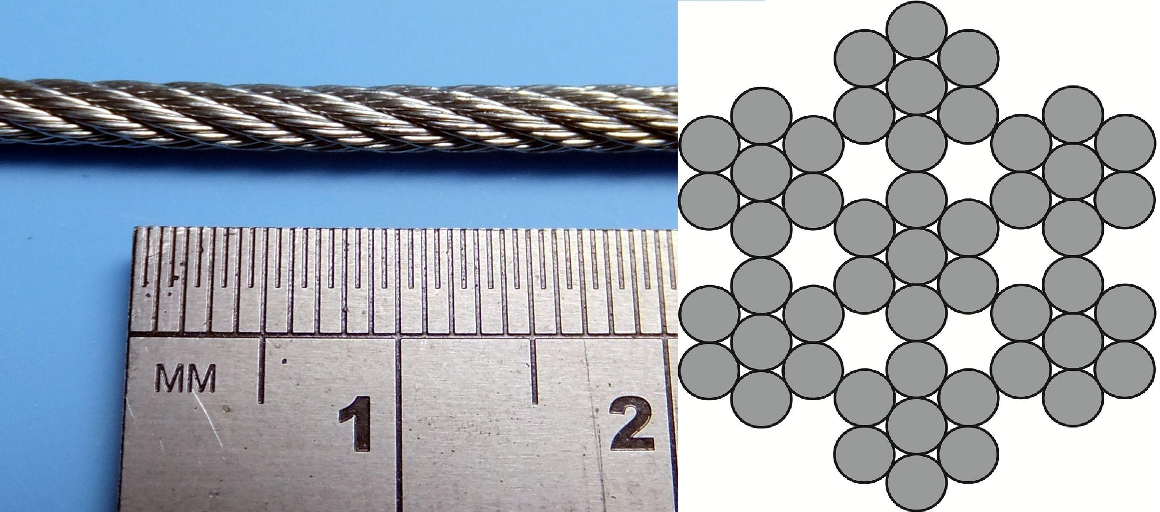 2 5mm Galvanised Steel Cable 1m Prime Miniatures